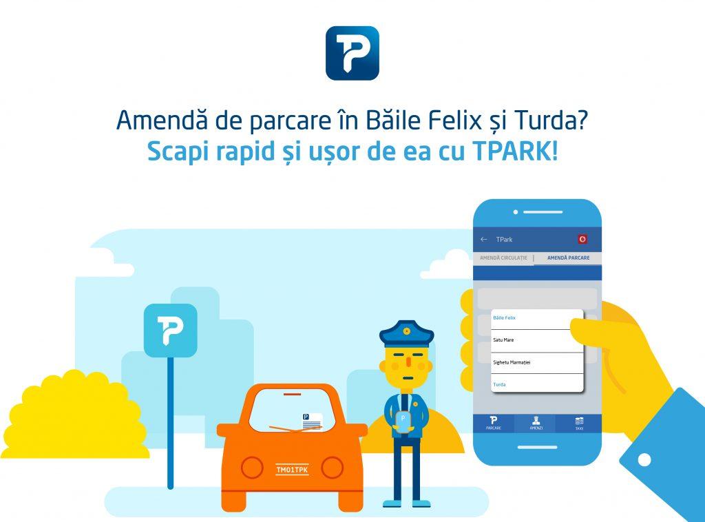 Plătiți amenzile de parcare din Băile Felix și Turda cu TPARK